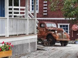 100 Vintage Dodge Trucks Rusty Truck At Telegraph Cove Canada Stock Photo
