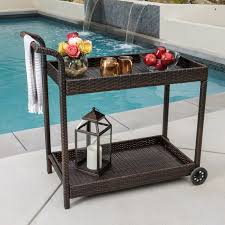 Great Patio Serving Cart Galileo Folding Beverage Cart