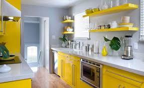 cuisine jaune et blanche organisation deco cuisine gris et jaune deco cuisine grise