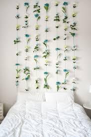 DIY Flower Wall Headboard