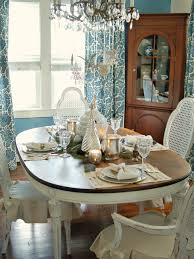 Dining Room Table Centerpiece Ideas by Classic Silver And White Christmas Table Decor Hgtv