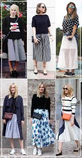 how to wear a line midi skirt top blue is in fashion this year