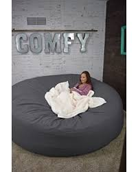 Bean Bag Bed 8 Foot Xtreem Oversized Chair Graphite Grey