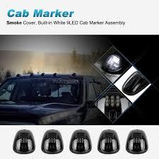 100 Running Lights For Trucks 5X264146BK WHITE LED Cab Roof Marker Smoke Lens