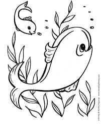 Easy Fish Coloring Pages For Kids Images Pictures Becuo