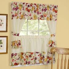Wine Themed Kitchen Set by Kitchen Curtains Tiers And Valance Inspirations Fruit Themed Decor