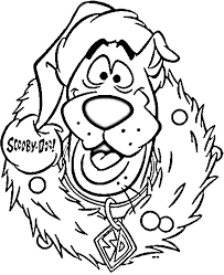 Scooby In Christmas Coloring Page
