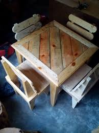 Kitchen Table And Chairs Made From Pallets Best Of 25 Pallet Dining Tables Ideas On Pinterest
