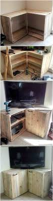 Diy Pallet Corner Tv Stand Wood Ideas For Your Home Table Made