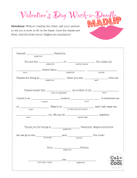 Halloween Mad Libs Pdf by 12 Coolest Valentine U0027s Day Party Games