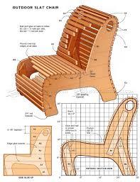 Outdoor Slat Chair Plans • WoodArchivist