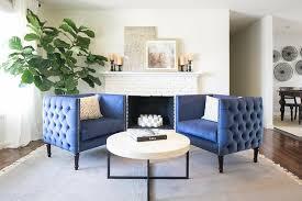 blue accent chairs design ideas