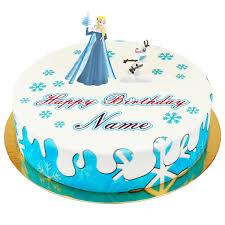 eiskönigin elsa auf snow torte