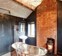 Wiltshire Exposed Chimney With Contemporary Bathtubs Bathroom Farmhouse And Antique Floor
