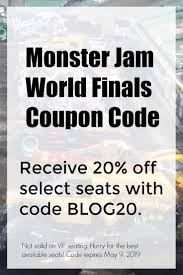 Monster Jam World Finals Coupon Code 2019 - Monster Jam Crush It Playstation 4 Gamestop Phoenix Ticket Sweepstakes Discount Code Jam Coupon Codes Ticketmaster 2018 Campbell 16 Coupons Allure Apparel Discount Code Festival Of Trees In Houston Texas Walmart Card Official Grave Digger Remote Control Truck 110 Scale With Lights And Sounds For Ages Up Metro Pcs Monster Babies R Us 20 Off For The First Time At Marlins Park Miami Super Store 45 Any Purchases Baked Cravings 2019 Nation Facebook Traxxas Trucks To Rumble Into Rabobank Arena On