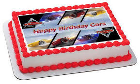 Cars 3 Mirror Picture Edible Cake and Cupcake Topper – Edible