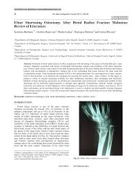 si e orthop ique ulnar shortening osteotomy after distal pdf available