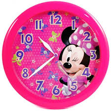 Minnie Mouse Wall Clock In Pink Color Also Classic Characters Design And Girls Bedroom Accessories Plus Big 12 Hour Numbers