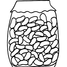 Jar Red Beans In Coloring Pages