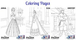 Frozen Printables Coloring Pages