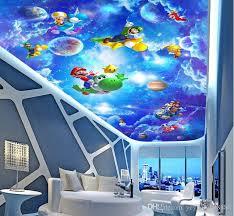 großhandel 3d decke tapeten für wohnzimmer benutzerdefinierte 3d decke sci fi kinderzimmer vlies tapete für himmel decke yeyueman8888 7 65 auf