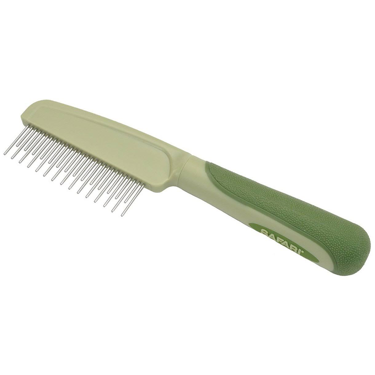 - Safari Dog Shedding Comb with Rotating Teeth
