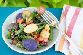Fingerling Potato Salad With Heirloom Tomatoes And Kale Italia