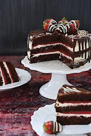 erdbeer schoko torte mit mascarpone creme