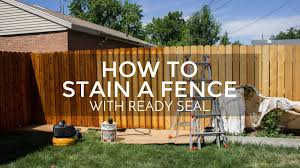how to stain a fence with ready seal