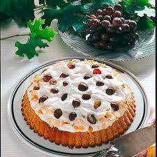 trauben sahne torte aus vollkornteig