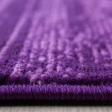 teppich modern kurzflor wohnzimmer teppiche einfarbig uni lila meliert