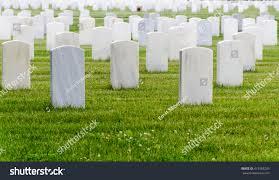 Tomb Stones Cemetery Ohio Veterans Home Stock