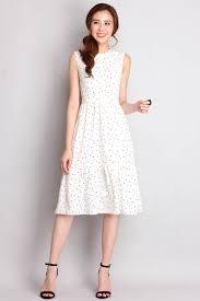 modern classics dress in white polka dots lilypirates
