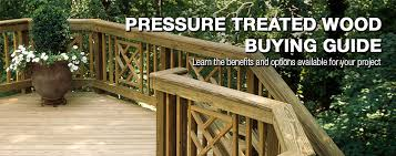 pressure treated wood buying guide at menards