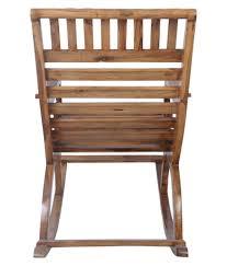 Teak Wood Rocking Chair In Natural Finish By Confortofurnishing