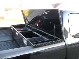 Black Diamond Plate Tool Box Aluminum Pickup Truck Trunk Bed Trailer ...