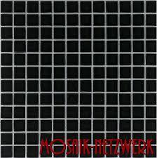 glasmosaik fliesen schwarz wand dusche küche fliesenspiegel 1matte es 71 34130 b