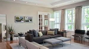 Elegant Design Grey Accent Wall Living Room With Yellow Rooms