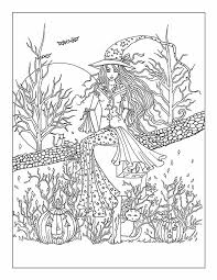 Free Printable Halloween Coloring Page Adults