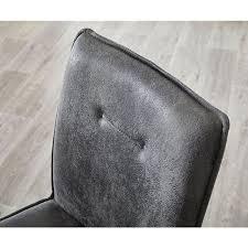 freischwinger yanis grau vintage edelstahl esszimmerstuhl
