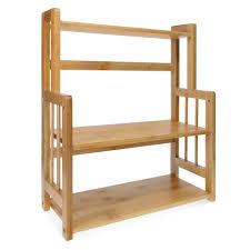 navaris gewürzregal mit 3 etagen aus bambus küchenregal holz gewürz schrank regal für gewürze vielseitiger organizer für küche bad büro