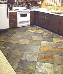 awesome slate tile kitchen flooring decor kitchen