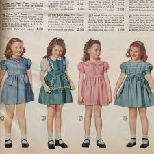 1945 Girls Dresses From The Montgomery Ward Catalog Clothing Catalogs Vintage