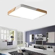natsen 80w led deckenleuchte rechteckig deckenle dimmbar mit fernbedienung led flurle küchele wohnzimmer schlafzimmer büro holz metall