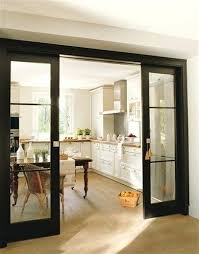 Kitchen Sliding Door Black Pocket Doors Dividing Space From Formal Living Room Dining And Family Curtain