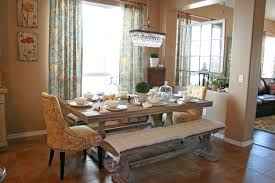 Pretty Dining Room Set With Bench And Modern Pendant Lamp Wood Laminate Floor