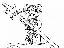 Lego Ninjago Coloring Pages Snakes
