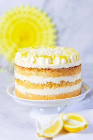 zitronencreme torte mit lemon curd