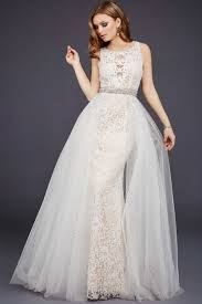 fashion trends white long prom dresses with sleeves combined with