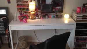 Cute Corner Desk Ideas by Decorating Lovely Ikea Micke Desk Also As Make Up Table For